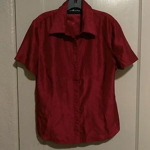 Sag Harbor l Rust Red Blouse size 12